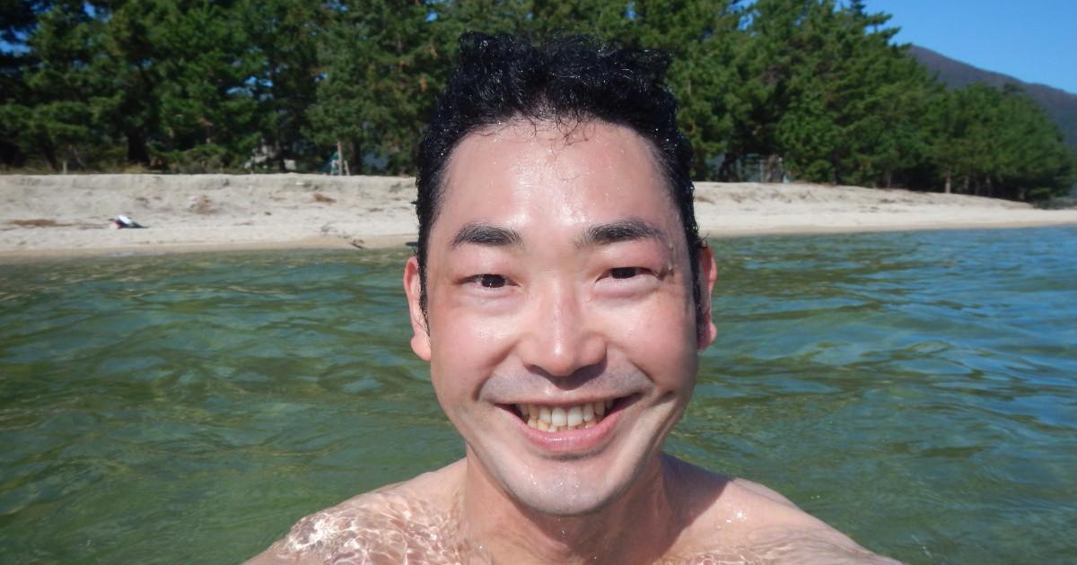 琵琶湖に入る